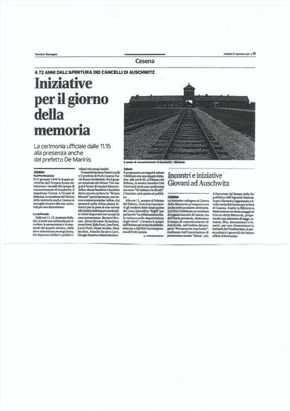 Corriere Romagna - Cesena 27 gennaio 2017