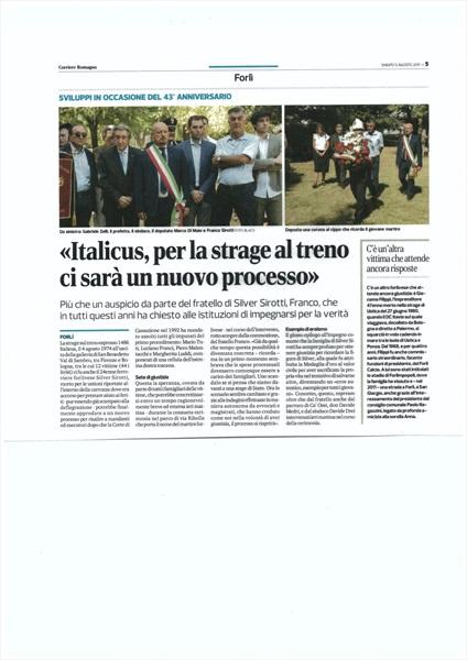 Corriere Romagna - Forli' 5 agosto 2017