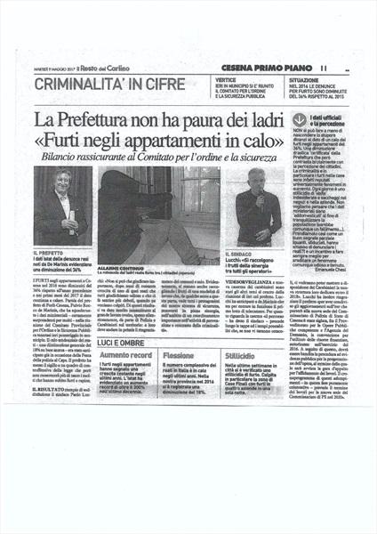 Il Resto del Carlino - Cesena 9 maggio 2017