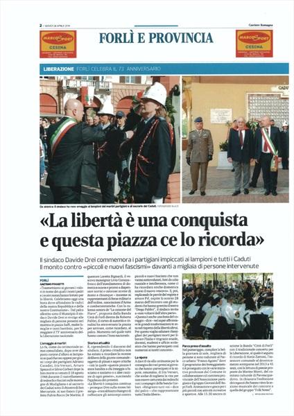 Corriere Romagna 26 aprile 2018