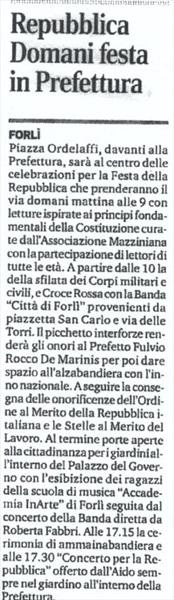 Corriere Forli' 1 giugno 2017